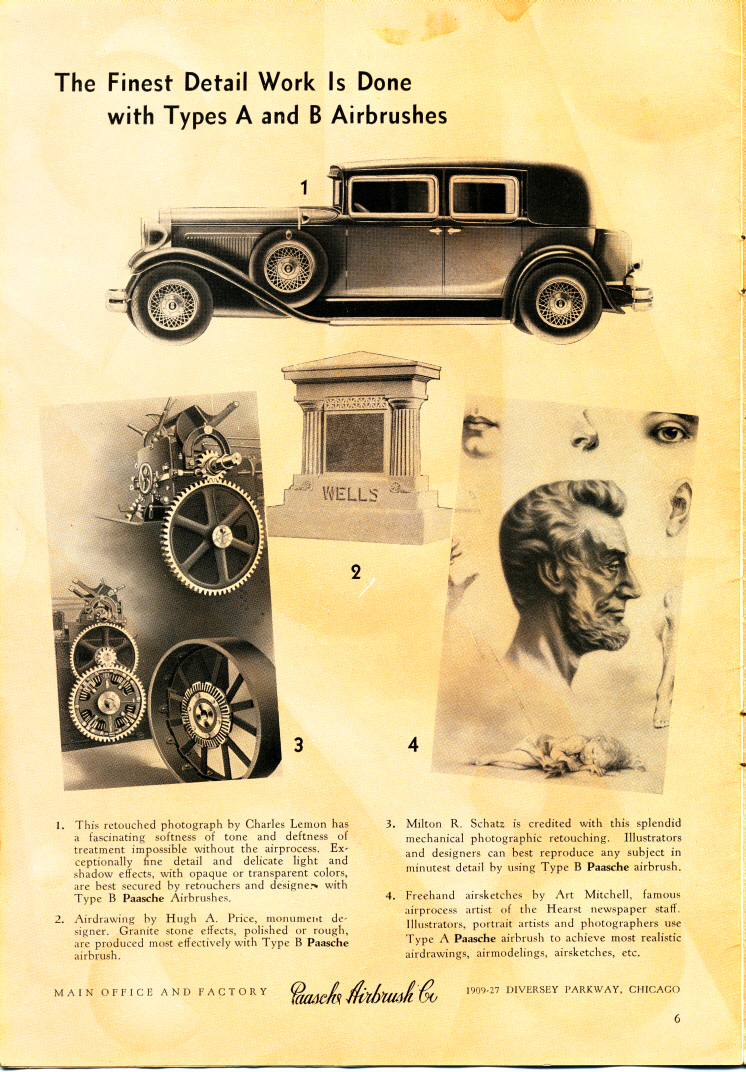 "The 1932 version of the Paasche AB ""Turbo."""