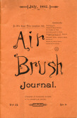 Cover of the 1892 Air Brush Digest magazine.