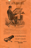 Back Cover of the 1892 Air Brush Journal magazine by Liberty Walkup & the Air Brush Mfg. Co.